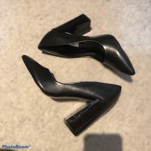 Matt & Nat Vegan Leather Block Heel Black Size 38